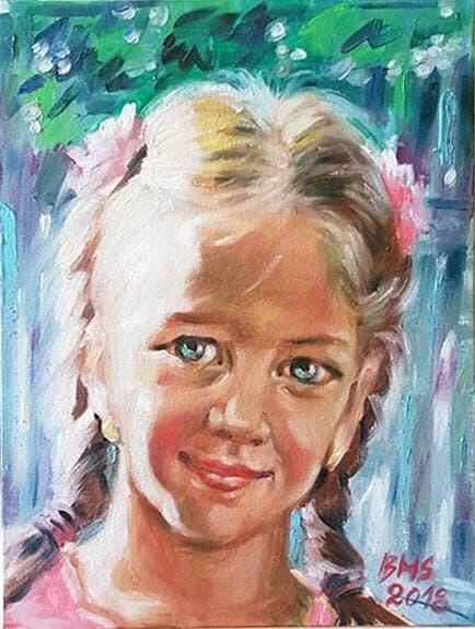 Portret de fetita Galerie, Pictura