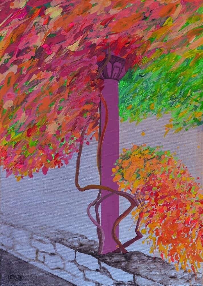 Coloana inflorită Galerie, Pictura