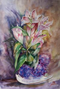 Lilies Acuarela