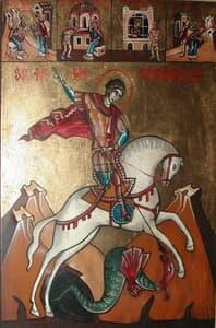 Sf. M. Mc. Gheorghe cu scene din viața sa Icoane
