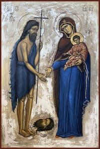 Sfantul Ioan Botezatorul si Maica Domnului cu Pruncul Icoane