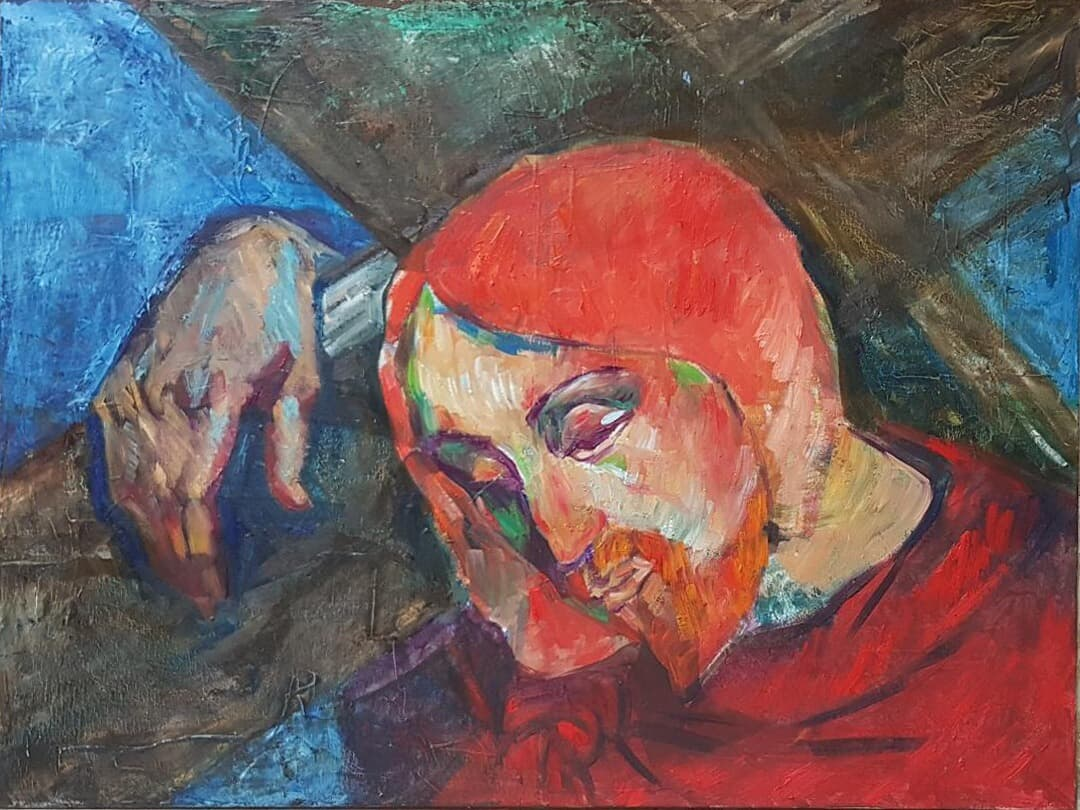 Drumul Crucii - omagiu lui Gauguin Arta religioasa, Galerie, Pictura