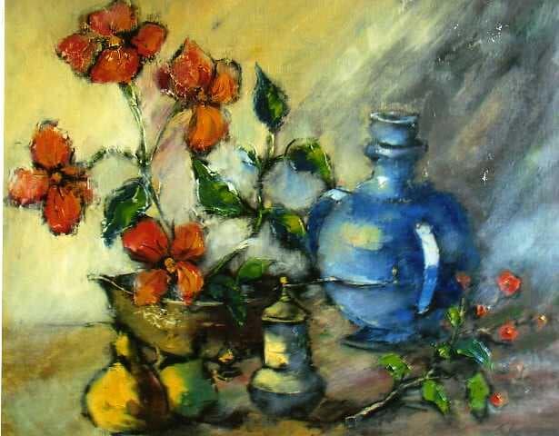 Natura cu cana albastra Galerie, Pictura