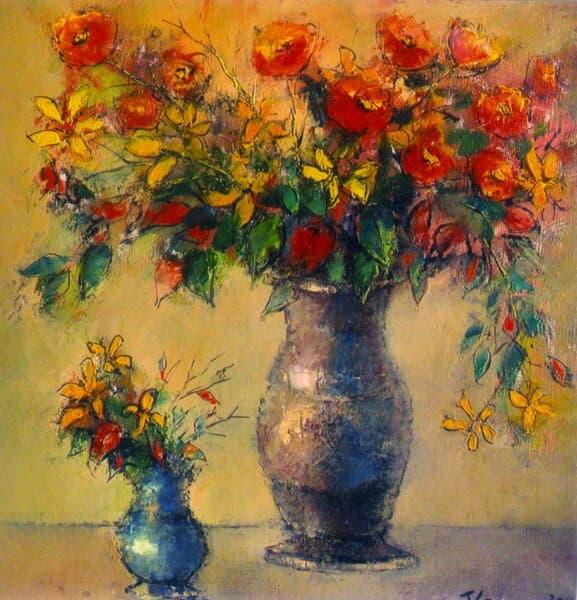 Vase cu flori Galerie, Pictura