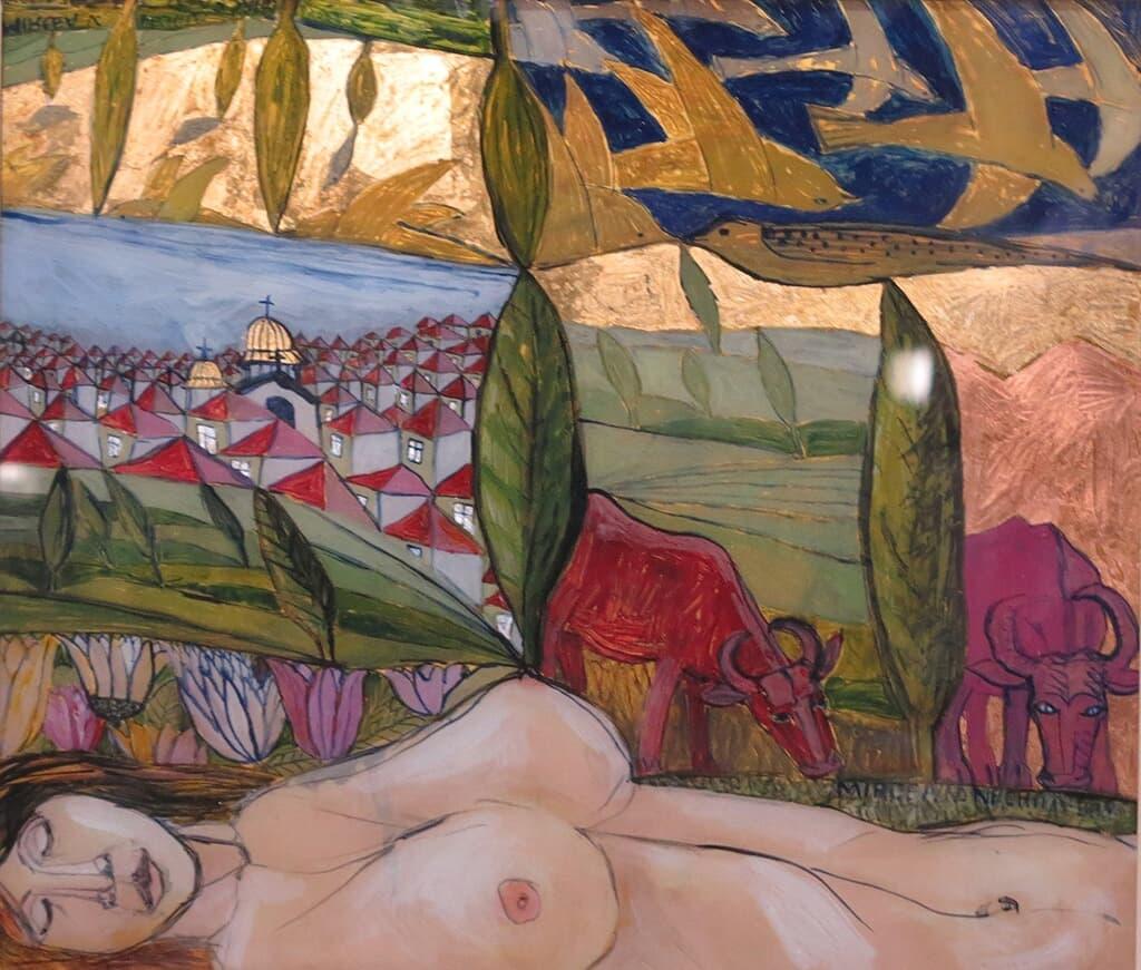 Nud în peisaj Galerie, Tehnica mixta
