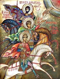 Sfinții Militari (Sf.Teodor Stratilat, Sf. Dimitrie si Sf. Gheorghe) Icoane